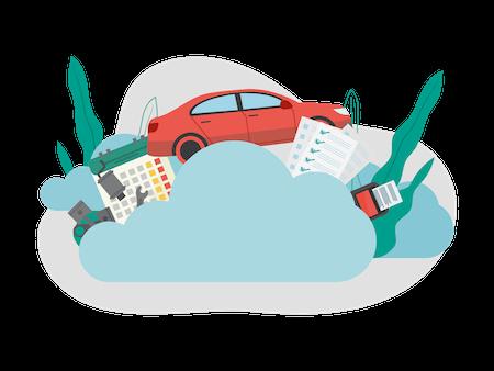 felhőalapú autószerviz program